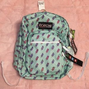 NWT Trans By Jansport Backpack Popsicles Design ❌